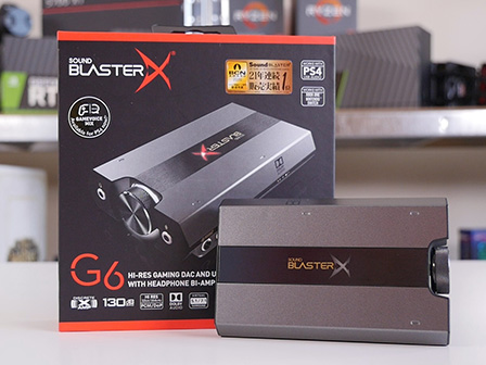 Creative Sound BlasterX G6: piccolo e potente Amplificatore e DAC da gaming
