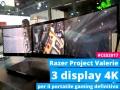Razer Project Valerie: il portatile con 3 display 4K